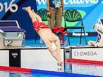 Alexander Elliot, Rio 2016 - Para Swimming /// Paranatation.<br /> Alexander Elliot competes in the men's 100m breaststroke SB9 classification heats // Alexander Elliot participe aux manches de classement SB9 du 100 m brasse masculin. 08/09/2016.