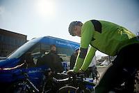 3 Days of De Panne.stage 3b: De Panne-De Panne TT..Russell Downing (GBR) warming down....