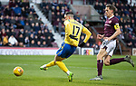 Hearts v St Johnstone…..14.12.19   Tynecastle   SPFL<br />Michael O'Halloran sees his chance cleared off the line<br />Picture by Graeme Hart.<br />Copyright Perthshire Picture Agency<br />Tel: 01738 623350  Mobile: 07990 594431
