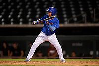 AZL Cubs 1 Ervis Marchan (21) squares to bunt during an Arizona League game against the AZL D-backs on July 25, 2019 at Sloan Park in Mesa, Arizona. The AZL D-backs defeated the AZL Cubs 1 3-2. (Zachary Lucy/Four Seam Images)