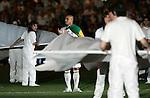 Real Madrid's Roberto Carlos celebrates after winning the league Spain's La Liga match between Real Madrid and Mallorca at Santiago Bernabeu stadium in Madrid, Sunday June 17, 2007. (ALTERPHOTOS/Alvaro Hernandez).