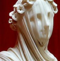 'Veiled Vestial Virgin', 1846, by Rafaele Monti