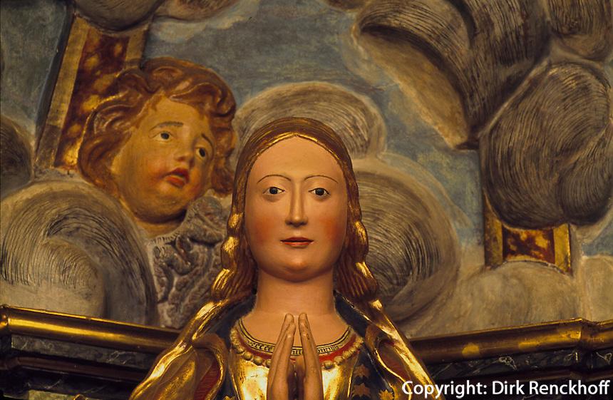 Spanien, Mallorca, Marienfigur im Santuari de Nostra Senora de Gracia