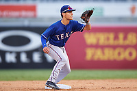 Sal Gozzo (2) of Mark T. Sheehan High School in Wallingford, Connecticut playing for the Texas Rangers scout team during the East Coast Pro Showcase on July 28, 2015 at George M. Steinbrenner Field in Tampa, Florida.  (Mike Janes/Four Seam Images)