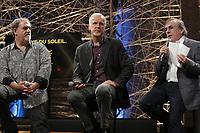 James Cameron a Montreal pour presenter un projet en collaboration avec le Cirque du Soleil, le 29 mai 2015<br /> <br /> PHOTO :  Agence Quebec Presse