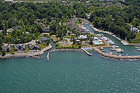 aerial photograph of the marina in Bratenahl, Ohio, a wealthy suburb along Lake Erie Cleveland Ohio