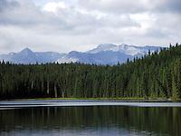 Scene from beautiful Fish Lake, near Nordegg, Alberta.