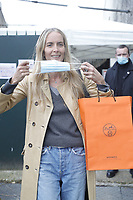 OCT 2020 Hermès fashion show street style and models arrivals in Paris