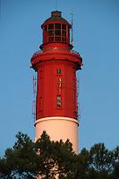 Europe/France/Aquitaine/33/Gironde/Bassin d'Arcachon/Le Cap Ferret: Le Phare - Détail du sommet et de la lanterne
