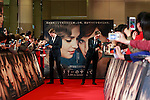 (L to R) Director Tom Hooper and actor Eddie Redmayne sign autographs for fans during the Japan premiere of The Danish Girl on March 9, 2016, Tokyo, Japan. Eddie Redmayne with his wife Hannah Bagshawe came to Japan to greet fans during the red carpet for the movie The Danish Girl. The film was nominated in four categories at the Academy Awards with Best Supporting Actress going to Alicia Vikander. Redmayne who won Best Actor at the Academy Awards in 2015 lost out this year in the Best Actor category to Leonardo DiCaprio. The film hits Japanese theaters on March 18. (Photo by Rodrigo Reyes Marin/NipponNews.net)