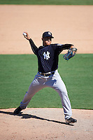 New York Yankees pitcher Wellington Caceres (47) during an Instructional League game against the Philadelphia Phillies on September 27, 2016 at Bright House Field in Clearwater, Florida.  (Mike Janes/Four Seam Images)