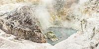 Sulphur Cave in Wai-O-Tapu Thermal Wonderland, Rotorua Region, Central Plateau, North Island, New Zealand, NZ