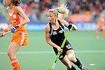 The Hague, Netherlands, June 05: Anita Punt #32 of New Zealand in action during the field hockey group match (Women - Group A) between New Zealand and The Netherlands on June 5, 2014 during the World Cup 2014 at Kyocera Stadium in The Hague, Netherlands. Final score 0-2 (0-2) (Photo by Dirk Markgraf / www.265-images.com) *** Local caption ***