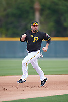 Pittsburgh Pirates Garth Brooks (7) running the bases in a drill during the teams first Spring Training practice on February 18, 2019 at Pirate City in Bradenton, Florida.  (Mike Janes/Four Seam Images)