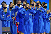 Team Italy <br /> Greece GRE - Italy ITA  <br /> Bronze Medal Match final 3rd - 4th place <br /> Trieste (Italy) 24/01/2021 Bruno Bianchi Aquatic Center <br /> Fina Women's Water Polo Olympic Games Qualification Tournament 2021 <br /> Photo Andrea Staccioli / Deepbluemedia / Insidefoto