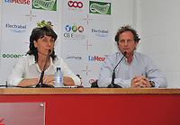 Persconferentie Standard Femina de Liege : Fery Ferraguzzi en Patrick Wachel<br /> foto Joke Vuylsteke / nikonpro.be