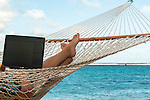 If you have to work, why not from a hammock?  Rarotonga, Cook Islands