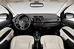 Stock photo of straight dashboard view of 2020 Mitsubishi Mirage-G4 SE 4 Door Sedan Dashboard