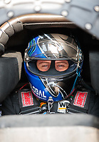 Apr 12, 2019; Baytown, TX, USA; NHRA funny car driver Shawn Langdon during qualifying for the Springnationals at Houston Raceway Park. Mandatory Credit: Mark J. Rebilas-USA TODAY Sports