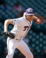 TCU Horned Frog starting pitcher Matt Purke against the Missouri Tigers on Saturday March 6th, 2100 at the Astros College Classic in Houston's Minute Maid Park.  (Photo by Andrew Woolley / Four Seam Images)