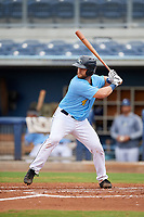 Charlotte Stone Crabs Joey Roach (4) bats during a Florida State League game against the Bradenton Maruaders on August 7, 2019 at Charlotte Sports Park in Port Charlotte, Florida.  Charlotte defeated Bradenton 2-0 in the first game of a doubleheader.  (Mike Janes/Four Seam Images)