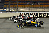 Will Power, Team Penske Chevrolet, Graham Rahal, Rahal Letterman Lanigan Racing Honda Zach Veach, Andretti Autosport Honda
