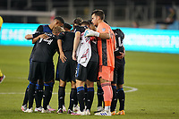 SAN JOSE, CA - OCTOBER 03: San Jose Earthquakes  Starting Eleven before a game between Los Angeles Galaxy and San Jose Earthquakes at Earthquakes Stadium on October 03, 2020 in San Jose, California.