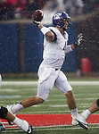 TCU Horned Frogs quarterback Casey Pachall (4) in action during the game between the Southern Methodist Mustangs and the TCU Horned Frogs at the Gerald J. Ford Stadium in Dallas, Texas. TCU leads SMU 21 to 10 at halftime..