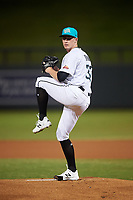 Salt River Rafters starting pitcher Drew Strotman (37), of the Tampa Bay Rays organization, during an Arizona Fall League game against the Mesa Solar Sox on September 27, 2019 at Salt River Fields at Talking Stick in Scottsdale, Arizona. Salt River defeated Mesa 6-1. (Zachary Lucy/Four Seam Images)
