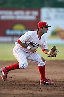 June 27th, 2007:  Dan Descalso of the Batavia Muckdogs, Short-Season Class-A affiliate of the St. Louis Cardinals at Dwyer Stadium in Batavia, NY.  Photo by:  Mike Janes/Four Seam Images
