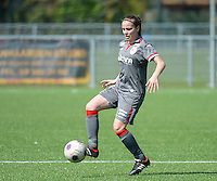20140419 - ANTWERPEN , BELGIUM : Standard's Riete Loos pictured during the soccer match between the women teams of RAFC Antwerp Ladies  and Standard Femina  , on the 24th matchday of the BeNeleague competition on Saturday 19 April 2014 in Deurne .  PHOTO DAVID CATRY