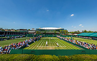 London, England, 5 th July, 2017, Tennis,  Wimbledon, overall view courts 9/10/11, in the background Centercourt<br /> Photo: Henk Koster/tennisimages.com