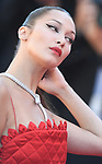 NON EXCLUSIVE PICTURE: MATRIXPICTURES.CO.UK<br /> PLEASE CREDIT ALL USES<br /> <br /> WORLD RIGHTS<br /> <br /> American model Bella Hadid attending the 'Okja' screening, during the 70th Cannes Film Festival, France.<br /> <br /> MAY 20th 2017<br /> <br /> REF: RHD 171023