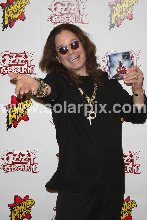 **ALL ROUND PICTURES FROM SOLARPIX.COM**.**SYNDICATION RIGHTS FOR UK, AUSTRALIA, DENMARK, PORTUGAL, S. AFRICA, SPAIN & DUBAI (U.A.E) & ASIA (EXCLUDING JAPAN) ONLY**.Ozzy Osbourne Signs Copies of His New Album Scream, Amoeba Music, Hollywood, CA, USA, 20 June 2010.This pic:  Ozzy Osbourne.JOB REF: 11530    PHZ boddi   DATE: 20_06_2010.**MUST CREDIT SOLARPIX.COM OR DOUBLE FEE WILL BE CHARGED**.**MUST NOTIFY SOLARPIX OF ONLINE USAGE**.**CALL US ON: +34 952 811 768 or LOW RATE FROM UK 0844 617 7637**