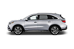 Car driver side profile view of a 2017 Acura MDX SH-AWD Advance & Entertainment Package 5 Door SUV