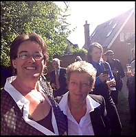 BNPS.co.uk (01202 558833)<br /> Pic:  Facebook <br /> <br /> Elena Lindsay Struthers-Gardner from Poole, pictured right, with her civil partner Mandy.<br /> <br /> A retired jockey died when she fell onto an eco-friendly metal drinking straw which impaled her eye, an inquest heard today.<br /> <br /> Elena Lindsay Struthers-Gardner, 60, suffered horrific brain injuries in the freak accident at her home in Broadstone, Poole, Dorset.<br /> <br /> She was carrying a mason-jar style drinking glass with a screw-top lid in her kitchen when she collapsed, with the 10ins stainless steel straw entering her left eye socket and piercing her brain.<br /> <br /> Today a coroner, prompted by the family, said metal drinking straws sould never be used with a lid that fixes them in place, and 'great care should be taken' while using them.