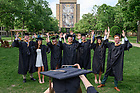 May 22, 2021; Mendoza College of Business graduate programs commencement. (Photo by Matt Cashore/University of Notre Dame)