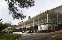 A club house is shown, Monday, April 26, 2021 at the Prairie Creek golf course in Rogers. The Prairie Creek golf course is closing after 50 years of ownership in the Rountree family. Check out nwaonline.com/210427Daily/ for today's photo gallery. <br /> (NWA Democrat-Gazette/Charlie Kaijo)