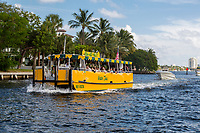 Ft. Lauderdale, Florida.  Water Taxi Entering the New River.