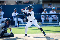 Connecticut Huskies outfielder Kyler Fedko (3) at bat during the NCAA tournament against the Michigan Wolverines on June 4, 2021 at Frank Eck Stadium in Notre Dame, Indiana. The Huskies defeated the Wolverines 6-1. (Andrew Woolley/Four Seam Images)