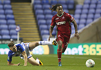 Renato Sanches of Swansea City is challenged by George Evans of Reading during the Carabao Cup Third Round match between Reading and Swansea City at Madejski Stadium, Reading, England, UK. Tuesday 19 September 2017