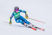 28th December 2020; Semmering, Austria; FIS Womens Giant Slalom World Cu Skiing; Nina O Brien of the USA in action during her 1st run of women Giant Slalom of FIS ski alpine world cup at the Panoramapiste in Semmering