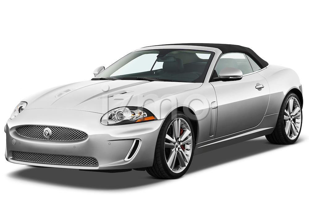 Front three quarter view of a 2011 Jaguar XKR Convertible
