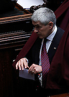Il senatore di Scelta Civica per l'Italia Pierferdinando Casini vota durante la sesta seduta comune di senatori e deputati per l'elezione del nuovo Capo dello Stato, alla Camera dei Deputati, Roma, 20 aprile 2013..Civic Choice for Italy party's senator Pierferdinando Casini votes during the sixth common plenary session of senators and deputies to elect the new Head of State, at the Lower Chamber in Rome, 20 April 2013..UPDATE IMAGES PRESS/Isabella Bonotto