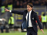 Football, Serie A: S.S. Lazio - Hellas Verona, Olympic stadium, Rome, February 5, 2020. <br /> Lazio's coach Simone Inzaghi gestures during the Italian Serie A football match between S.S. Lazio and Hellas Verona at Rome's Olympic stadium, Rome, on February 5, 2020. <br /> UPDATE IMAGES PRESS/Isabella Bonotto