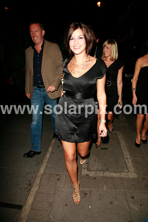 **ALL ROUND PICTURES FROM SOLARPIX.COM**.*WORLDWIDE RIGHTS*.Imogen Thomas (Big Brother 7) leaves Embassy nightclub early (at about 11pm), a shortlived attendance to the Embassy? Could be down to it being a rubbish night? An early night to bed? Or maybe someone found out who she was and chucked her out because she is from a previous Big Brother,  as Embassy could also be enforcing a carpet ban on BB veteran contestants. 12th September 2007..This pic: Imogen Thomas..JOB REF:    GMT   DATE: .**MUST CREDIT SOLARPIX.COM OR DOUBLE FEE WILL BE CHARGED* *UNDER NO CIRCUMSTANCES IS THIS IMAGE TO BE REPRODUCED FOR ANY ONLINE EDITION WITHOUT PRIOR PERMISSION*