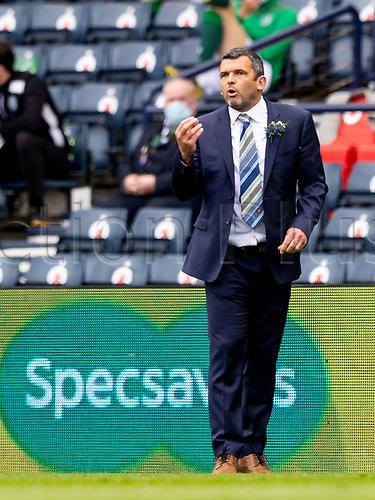22nd May 2021; Hampden Park, Glasgow, Scotland; Scottish Cup Football Final, St Johnstone versus Hibernian; Callum Davidson St Johnstone Manager