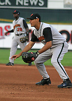 August 6, 2003:  Luis Garcia of the Buffalo Bisons during a game at Frontier Field in Rochester, New York.  Photo by:  Mike Janes/Four Seam Images