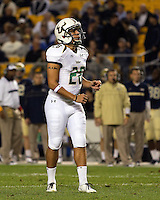 USF placekicker Maikon Bonani. The Pitt Panthers defeated the USF Bulls 44-17 on September 29, 2011 at Heinz Field in Pittsburgh Pennsylvania.