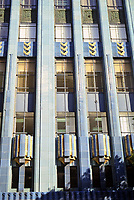 Los Angeles:  Eastern Columbia Building--detail of Art Deco style.  849 S. Broadway, L. A., Claude Beelman 1929. Photo Dec. 1997.